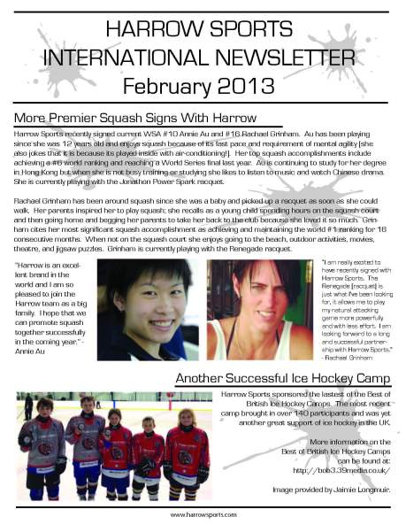 Harrow Newsletter Feb 2013 (2)