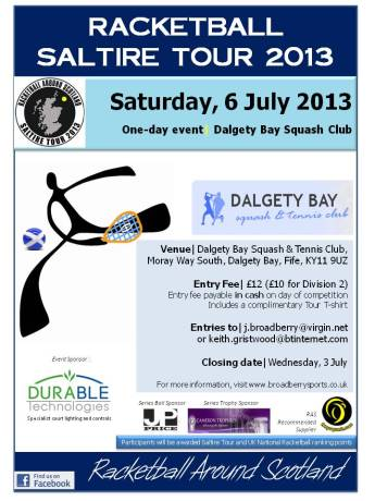 Dalgety Bay Poster - RASTA Match Day 2 - July 2013)