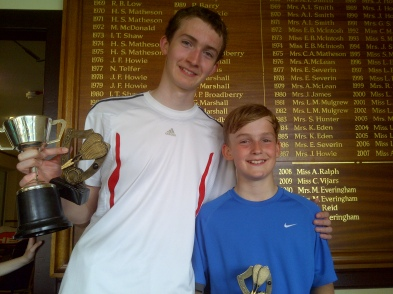 Junior Champs - winners David & Steve