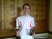 Junior Champs - winner David Bennan U18