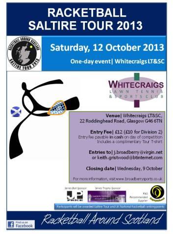 Racketball Tour - Whitecraigs - 12 October 2013