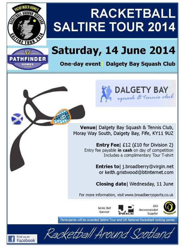 Racketball Tour - Dalgety Bay- 14 June 2014