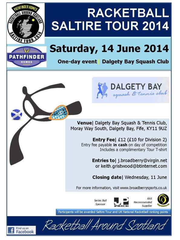 Racketball Tour - Dalgety Bay- 14 June 2014