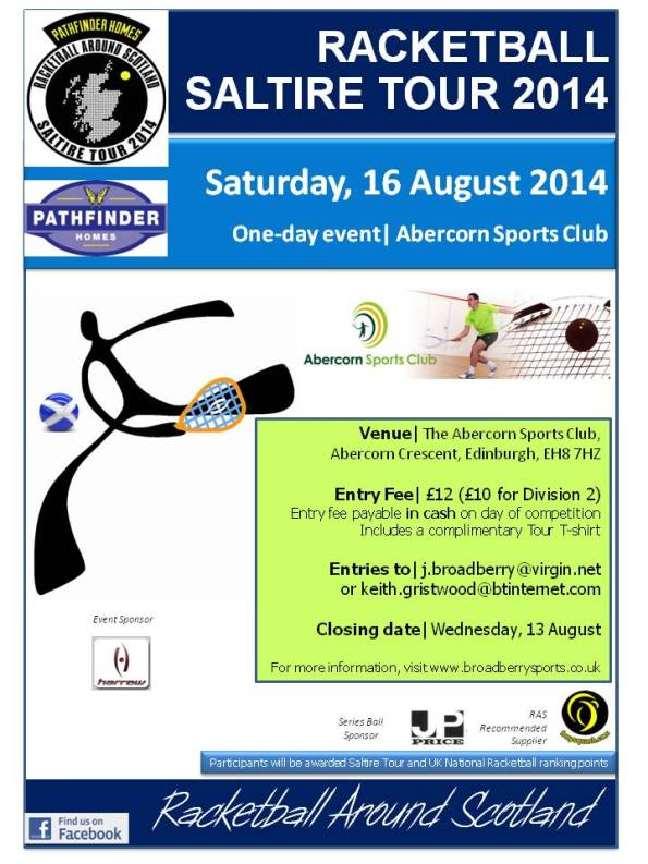 Racketball Tour - Abercorn- August 2014