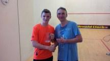 1st ever go at Racketball for Iain