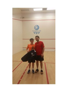 West Squash Award - Best Junior 2015