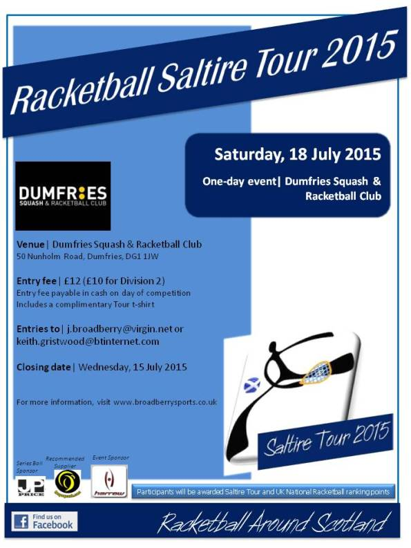 Racketball Around Scotland Tour - Dumfries 18 July 2015