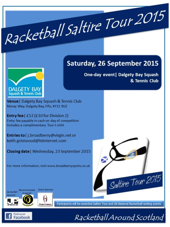 Racketball Around Scotland Tour - Dalgety Bay - 26 Sept 2015