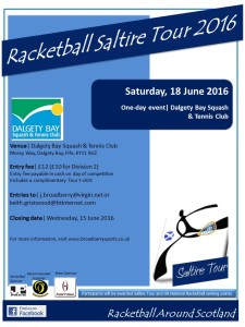Racketball Around Scotland Tour - Dalgety Bay - 18 June 2016