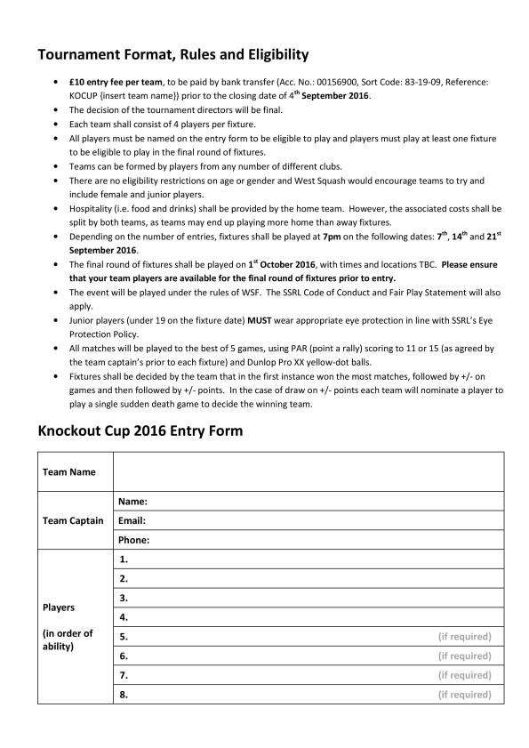 West Squash - Knockout Cup 2016 Entry Form -1