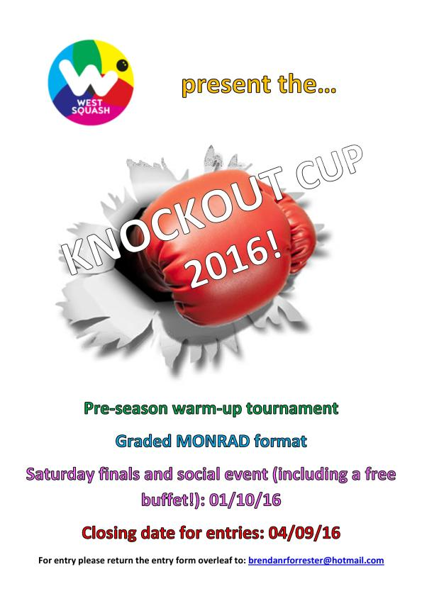 West Squash - Knockout Cup 2016 Poster