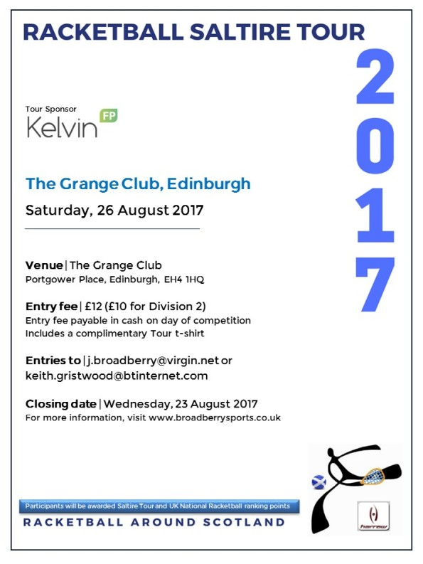 Racketball Tour - The Grange - Aug 2017
