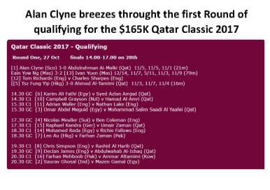 Alan Clyne breezes throught the first Round of qualifying for the