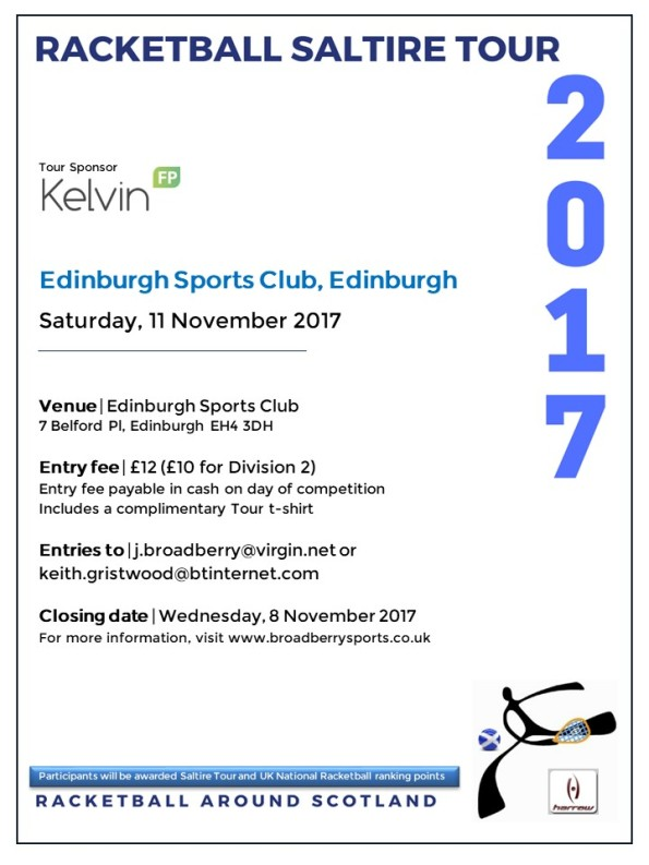 Racketball Tour - Edinburgh, Nov 2017
