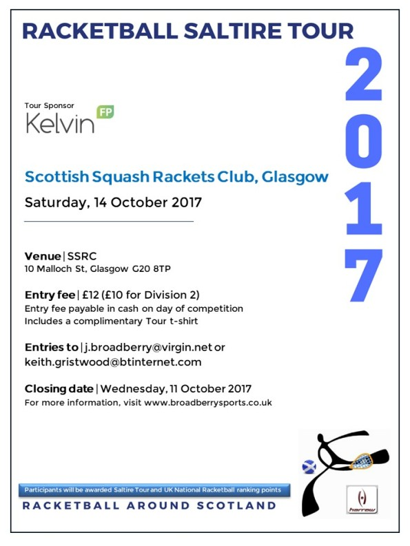 Racketball Tour - SSRC, Oct 2017