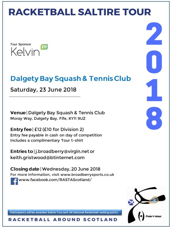 Racketball Around Scotland Tour - Dalgety Bay - 23 June 2018