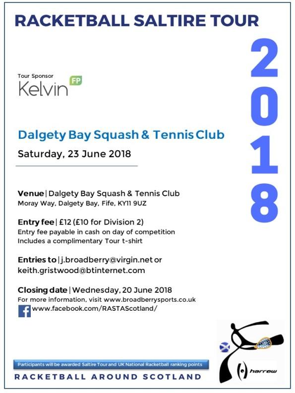 Racketball Around Scotland Tour - Dalgety Bay - 23 June 2018
