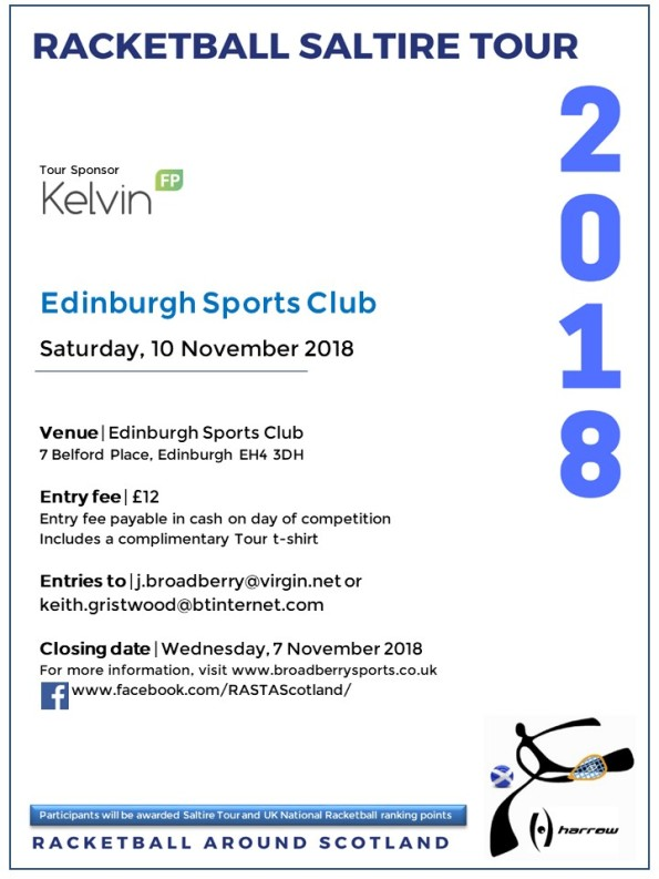 Racketball Around Scotland Tour - Edinburgh Sports Club - 10 November 2018