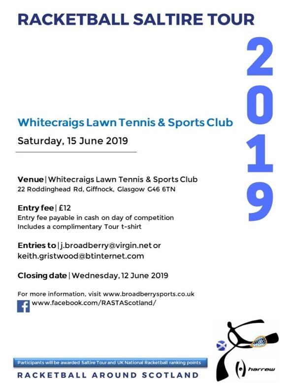 Racketball Around Scotland Tour - WLTSC 15 June 2019
