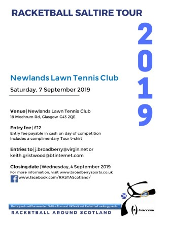 Racketball Around Scotland Tour - Newlands - 7 September 2019